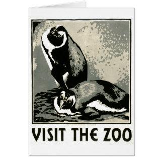 Carte Visitez le zoo - l'affiche de WPA -