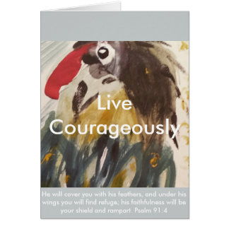 Carte Vivent courageusement/inspiration et encouragement