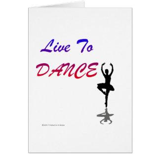 Carte Vivez pour danser (pour les produits de couleur
