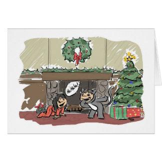 Carte Voici venir Père Noël ! ! !