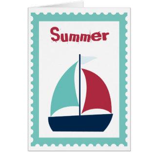 Carte Voilier de bateau à voile de navigation d'été