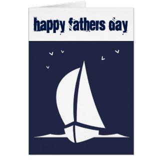 Carte Voilier de fête des pères