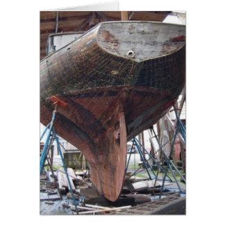 Carte voilier en bois