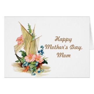 Carte Voilier heureux de cru du jour de mère