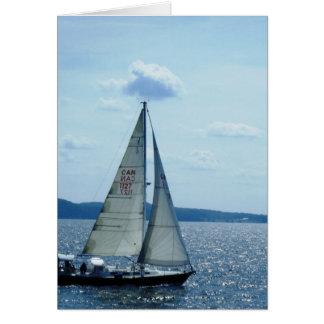 """Carte """"Voilier, lac Champlain """""""