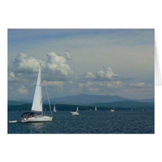 Carte Voilier sur le lac Champlain