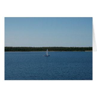 Carte Voilier sur le lac Ontario