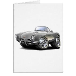 Carte Voiture 1956-57 argentée de Corvette