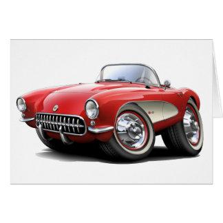 Carte Voiture 1956-57 de rouge de Corvette