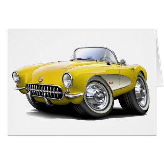 Carte Voiture 1956-57 jaune de Corvette