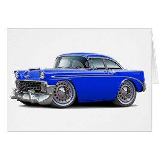 Carte Voiture 1956 de bleu de Chevy Belair