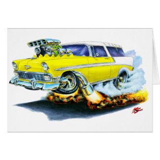 Carte Voiture 1956 de jaune de nomade de Chevy