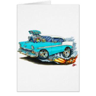 Carte Voiture 1956 de turquoise de Chevy 150-210