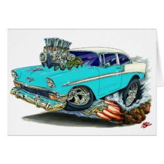 Carte Voiture 1956 de turquoise de Chevy Belair