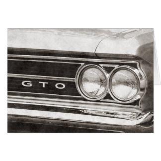 Carte Voiture de classique de GTO