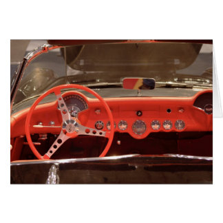 Carte Volant 1956 et tiret de Chevrolet Corvette