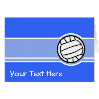 Carte Volleyball ; Bleu