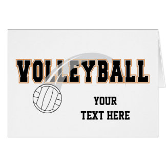 Carte Volleyball (personnalisable)