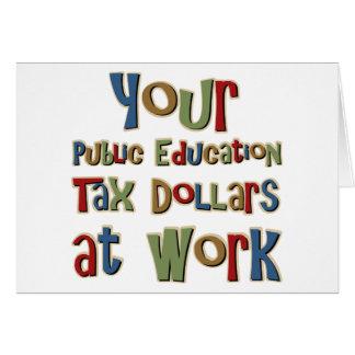 Carte Vos argents provenants des impôts d'enseignement