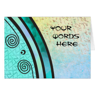 Carte Vos mots sur l'hippocampe de vert d'Aqua