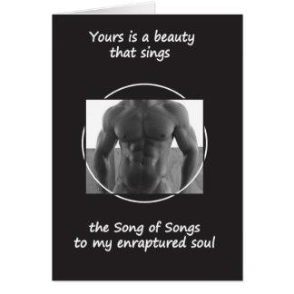 Carte Votre beauté chante (le blanc à l'intérieur)