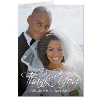 Carte Votre Merci spécial de photo de mariage