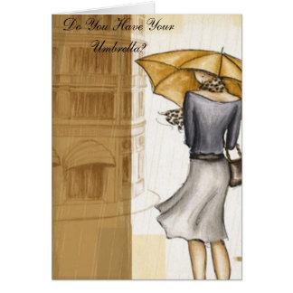 Carte Vous avez votre parapluie