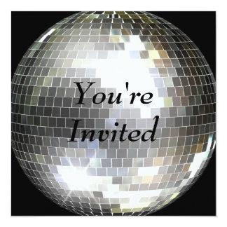 Carte Vous êtes invités - boule de disco