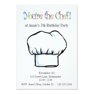 Carte Vous êtes l'invitation de chef