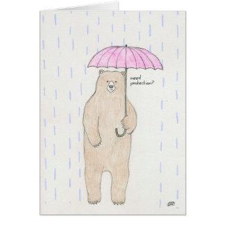 Carte Vous êtes maintenant sous mon parapluie !