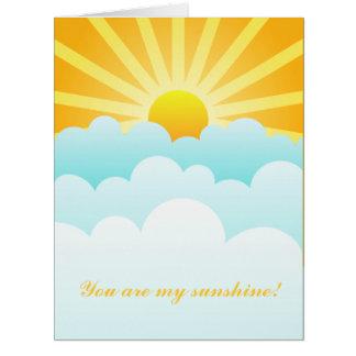 Carte Vous êtes mon soleil