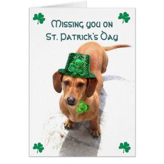 Carte Vous manquer le jour de St Patrick