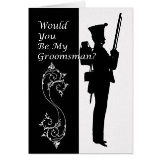 Carte Vous serez mon napolionic militaire de garçon