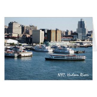 Carte voyage NYC le fleuve Hudson de g/nc Artisanware