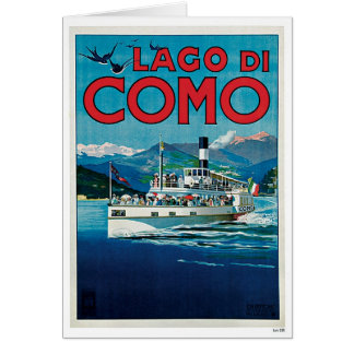 Carte Voyage vintage de Lago Di Como Italie