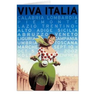 Carte Voyage vintage Italie -
