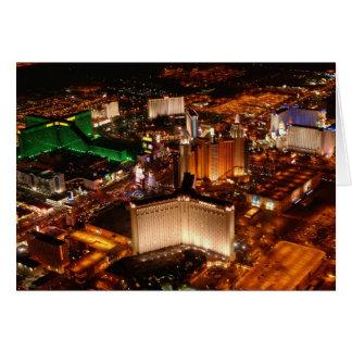 Carte Vue aérienne de Las Vegas d'un dirigeable souple