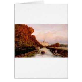 Carte Vue au château de Michael à Pétersbourg de Lebiaz