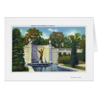 Carte Vue commémorative de fontaine de Spencer Trask