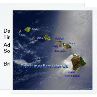 Carte Vue des îles hawaïennes