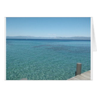 Carte Vue d'un dock chez le lac Tahoe