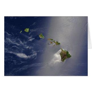 Carte Vue satellite des îles d'archipel d'Hawaï