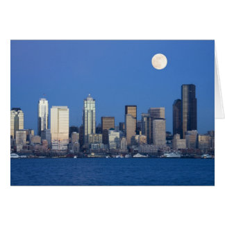 Carte WA, horizon de Seattle, Seattle et baie 2