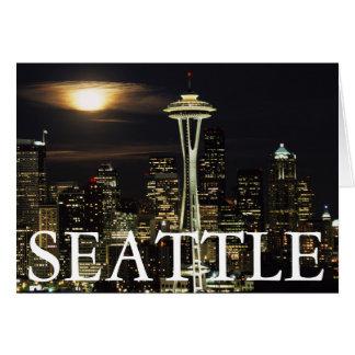Carte Washington, Seattle, horizon la nuit de Kerry 2