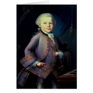Carte Wolfgang Amadeus Mozart, 1763