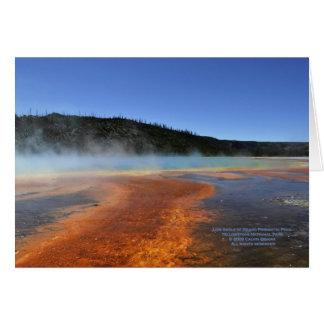 Carte Yellowstone -- Angle faible de piscine grande de