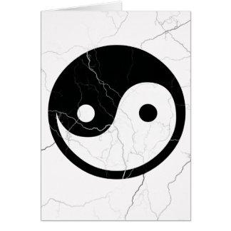 Carte Yin noir et blanc et Yang