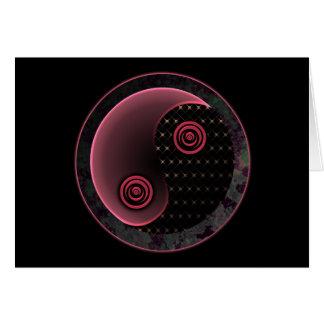 Carte Yin pourpre cosmique Yang