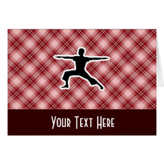 Carte Yoga rouge de plaid