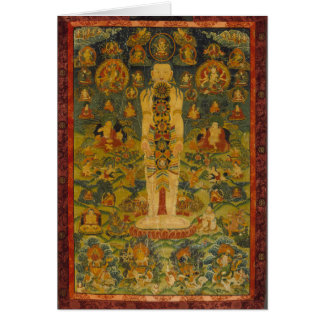 Carte Yoga tibétain Thangka d'homme cosmique